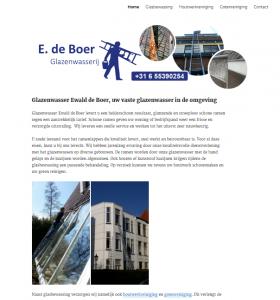 E. de Boer Glazenwasserij
